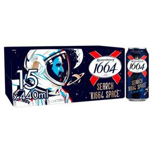 15 x 440ml cans of Kronenbourg 1664 Lager £10 @ Asda