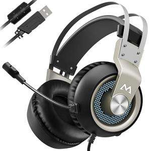 Mpow Gaming Headset PC / Mac / PS4 - Virtual 7.1 / 50mm Drivers / NC Mic £14.99- Sold by Mpow Retailer and Fulfilled by Amazon