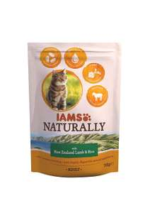 Iams Naturals New Zealand Lamb and Rice Adult Cat Food, 700 g - Pack of 5 - £3 (Prime) / £7.49 (non Prime) at Amazon