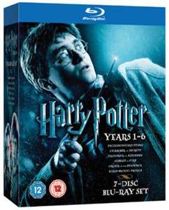 Harry Potter 1-6 Blu ray used £7.55 delivered with code @ Music Magpie
