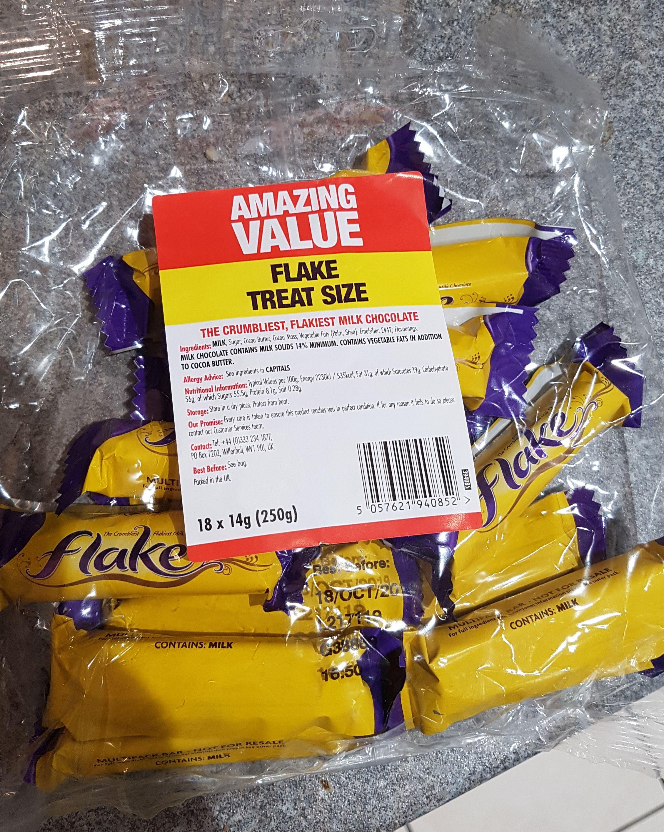 Cadbury's Flake Bag of 18 x 14g bars (250g) £1 in Poundland