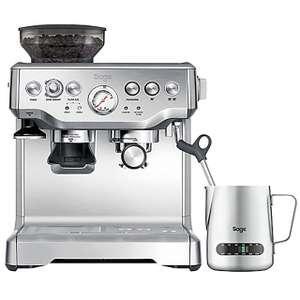 Sage The Barista Express BES875UK Espresso Coffee Machine with Integrated Burr Grinder - Brushed Steel £336.60 w/code @ AO