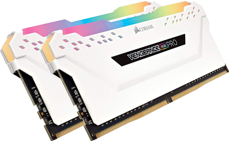 Corsair Vengeance RGB PRO 16 GB (2 x 8 GB) DDR4 3200 MHz C16 XMP 2.0 Enthusiast RGB LED Illuminated Memory Kit - White £96.99 @ Amazon