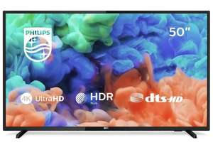 Philips 50PUS6203/12 50-Inch 4K Ultra HD Smart TV with HDR Plus and Freeview Play - Black (2018/2019 Model) - £319.99 @ Amazon