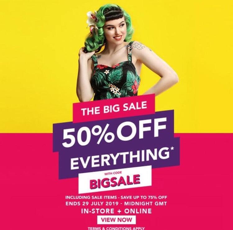 Collectif Big Summer Sale 50% Off w/code