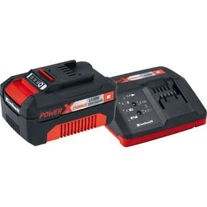 Einhell (?Ozito compatible) power x change 18V Li-Ion Battery & Charger 3.0Ah - £24.98 @ Toolstation (Free C&C)