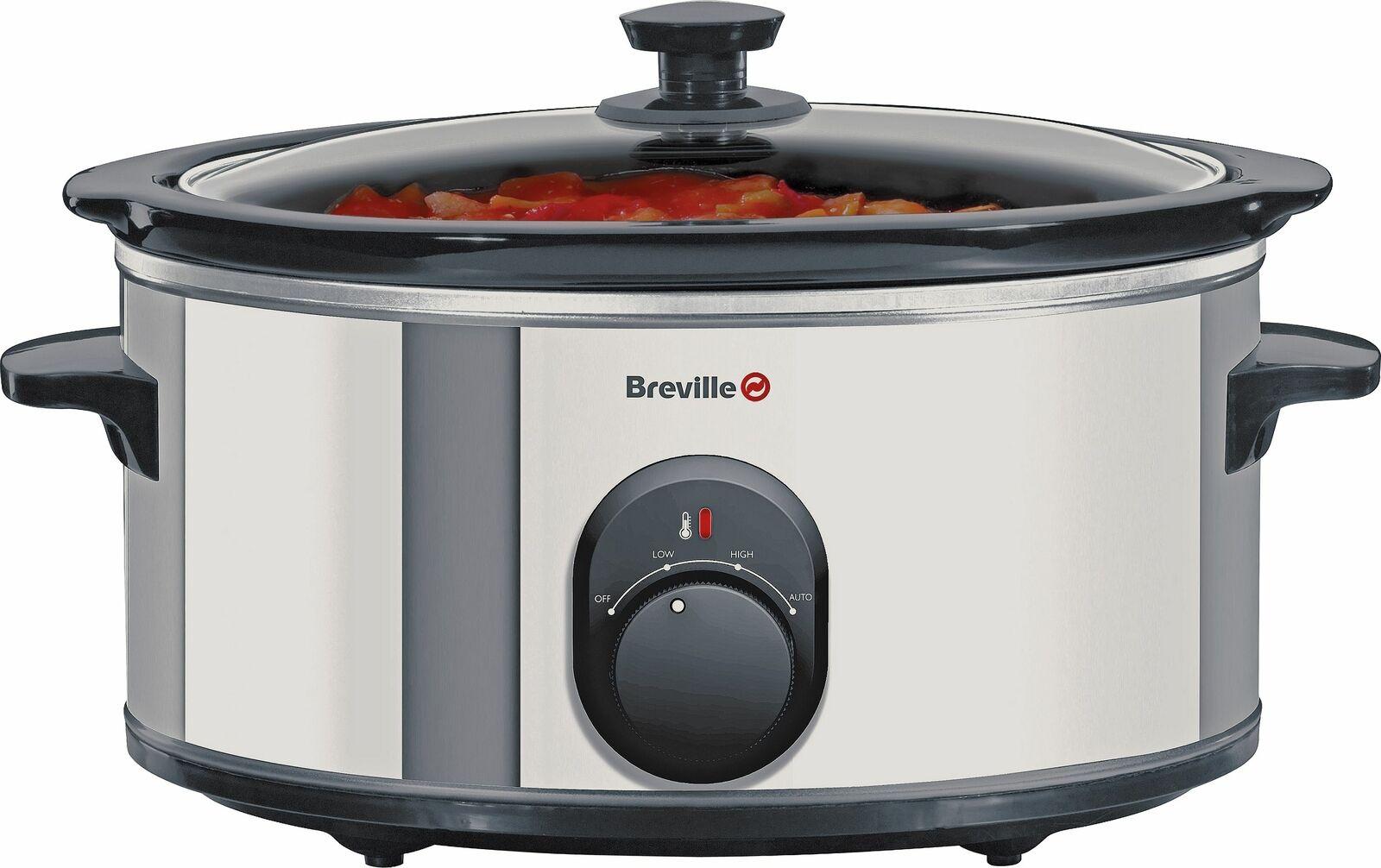 Breville ITP137 4.5L 3 Settings Ceramic Bowl Slow Cooker - Stainless Steel 265W - £12.99 @ Argos / Ebay