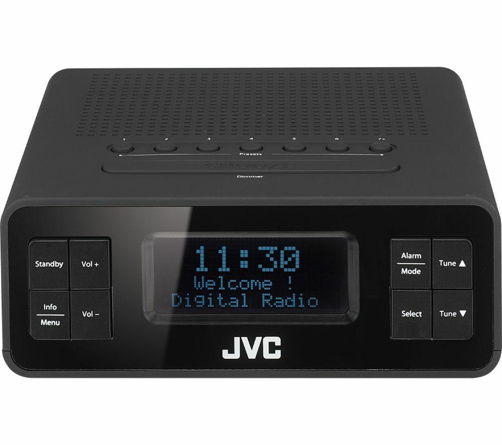 JVCRA-D38-B DAB/FM Clock Radio - Black £24.99 @ Curry's/PCWorld