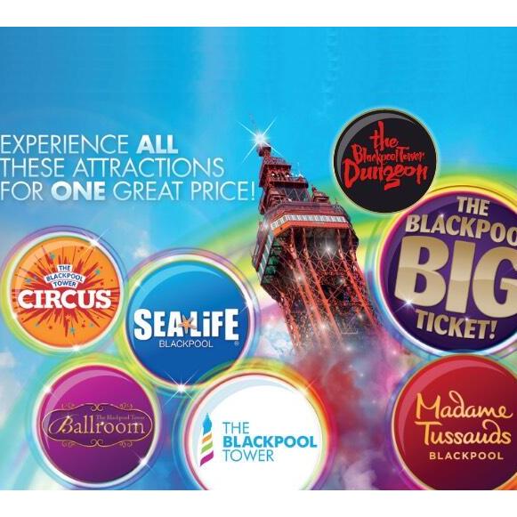 Merlin Blackpool big ticket half price £23 @ Bauer Media (Attractions in description)