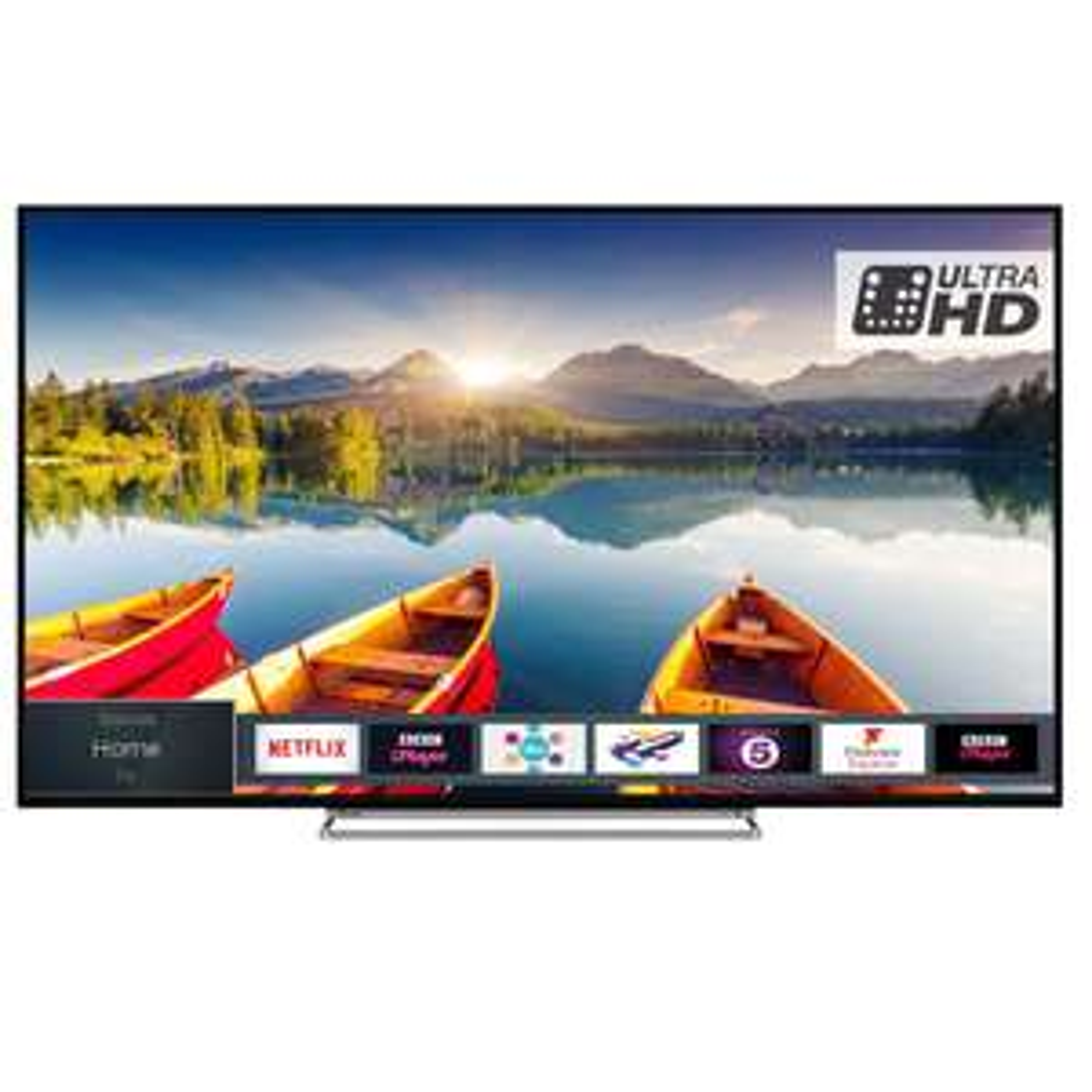 "TOSHIBA 55U6863DB 55"" Smart 4K Ultra HD HDR LED TV £329 @ Currys"