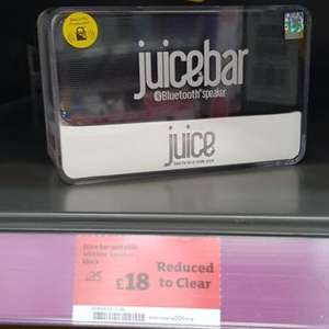 Sainsbury's Nantwich Juice Bar portable bluetooth Speaker £18 instore