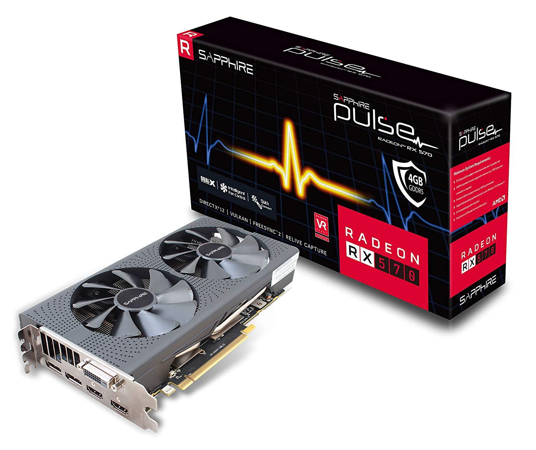 SAPPHIRE Pulse Radeon RX 570 4G GDDR5 Graphics Card £109.99 at Amazon