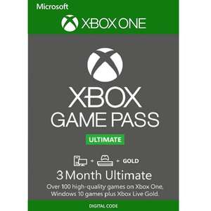 3 Month Xbox Game Pass Ultimate Xbox One / PC £11.99 at CDKeys
