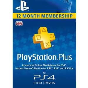 PlayStation Plus - 12 Month Subscription (UK) £34.99 @ CDKeys