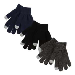 bluezoo - 3 pack touch screen gloves £2.40 delivered with code @ Debenhams