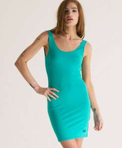 New Womens Superdry Body Con Dress Turquoise Blue AA £5.69 at Superdry eBay
