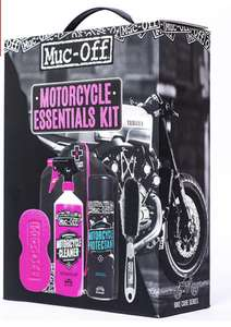 Motorbike cleaning kit - Muc-Off Essentials Cleaning Pack £18.50 at SportsBikeShop