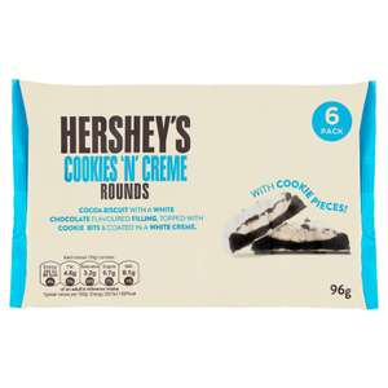 Hershey's Cookies 'n' Creme Rounds 6pk @ B&M - £1