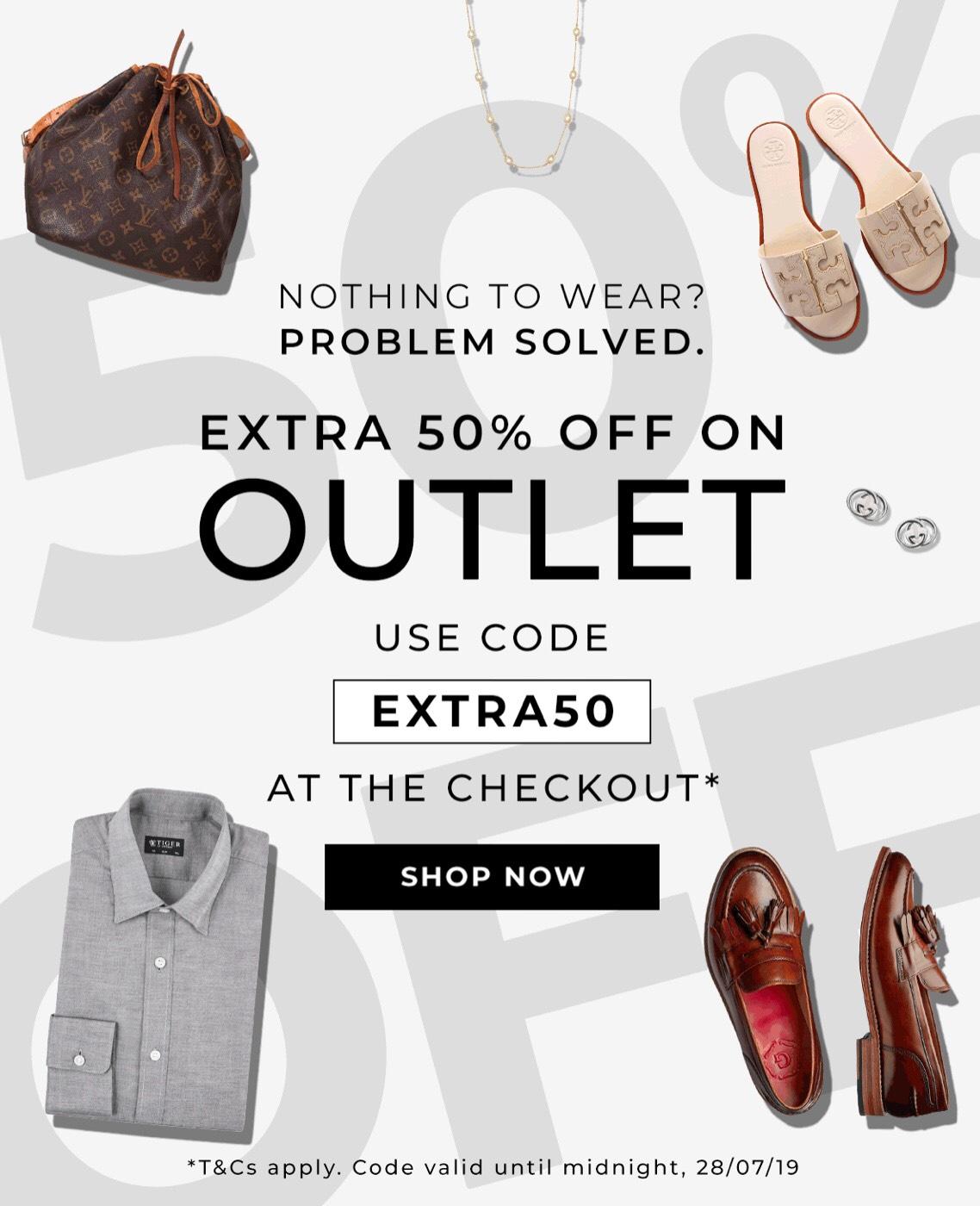 50% off secret sales outlet