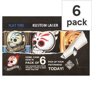 Pistonhead Mixed 6 Pack Craft Lager 330Ml - £8 each or 2 for £9 @ Tesco (Online / Instore)