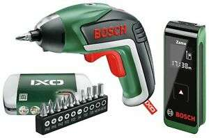 Bosch IXO Screwdriver and Zamo Measuring Tool Twin Pack, £43.99 at Argos/Ebay