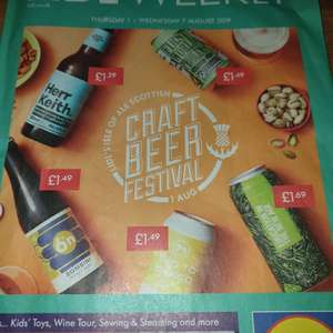 Lidl Craft Beer Festival (Scotland) with beers from £1.29