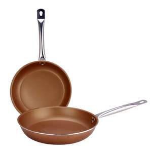 Twin Pack 24cm & 28cm Copper Effect Frying Pan Set for £8 @ Dunelm (Free C&C)