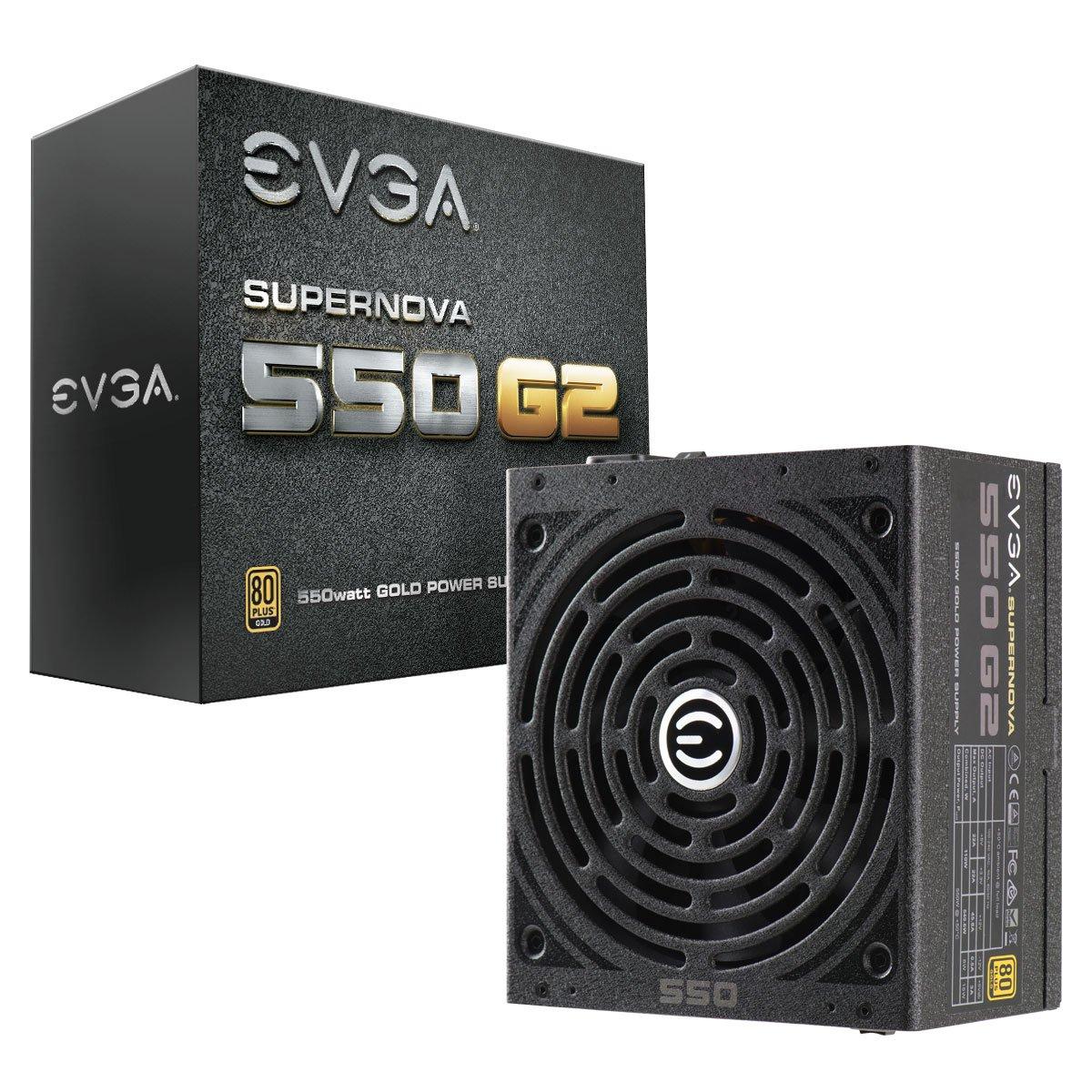 EVGA SuperNOVA 550 G2, 80+ GOLD 550W, Fully Modular PSU £68.99 at Amazon
