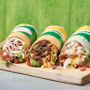 One free Signature Loaded Wrap per Sub card account till 4/08/19 @ Subway (Account specific)