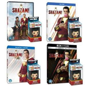 Pre-order 12th August - Shazam! + Free Funko Keychain & 10% off w/code - DVD £8.99 / Blu-ray £13.49 / 3D BR £17.99 / 4K £22.49 @ Warner Bros