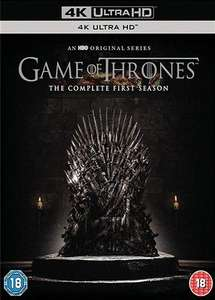 Game Of Thrones Season 1 4K UHD Blu Ray Used £10 (+ £1.50 Delivery) @ CEX