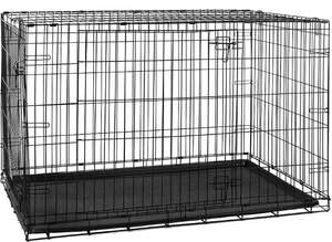 36 inch Pet Cages Metal Dog Cat Puppy Training Folding Crate Animal Transport With Tray - £23.16 w/code @ homediscountltd eBay