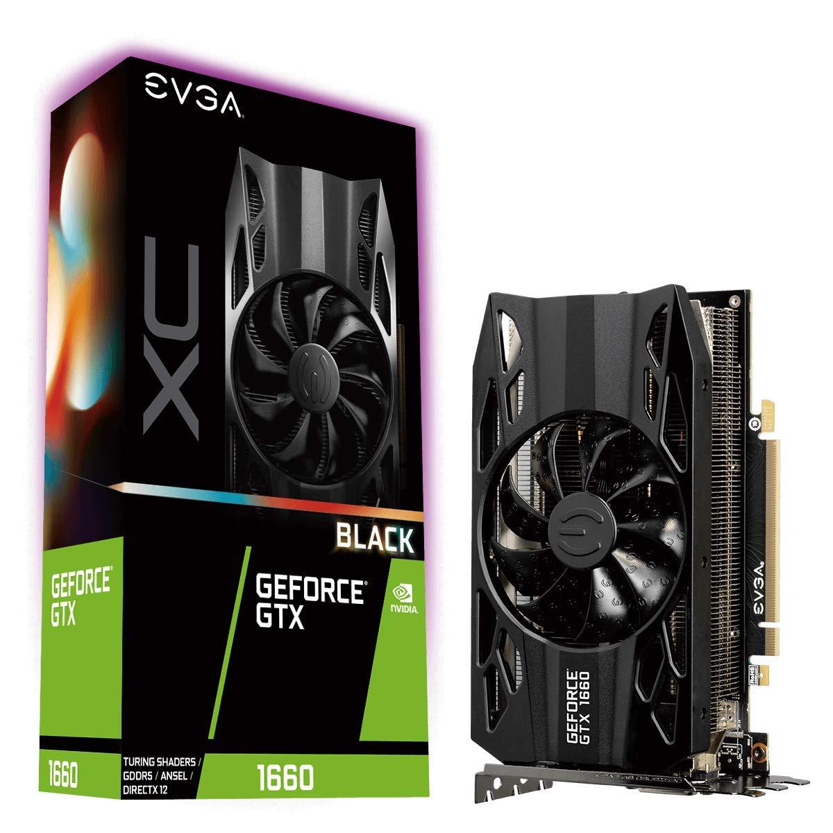 EVGA GeForce GTX 1660 XC BLACK GAMING, 6GB GDDR5, HDB Fan, Graphics Card £208.99 @ Amazon