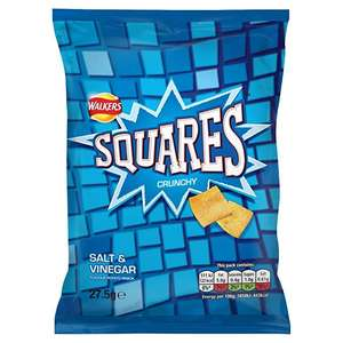 Walkers Squares Salt and Vinegar Snacks Case, 32 units x 27.5 g - £8.67 at Amazon Prime / £13.16 Non Prime