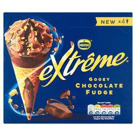 Extrême Gooey Chocolate Fudge 4 x 120ml £1 @ Iceland