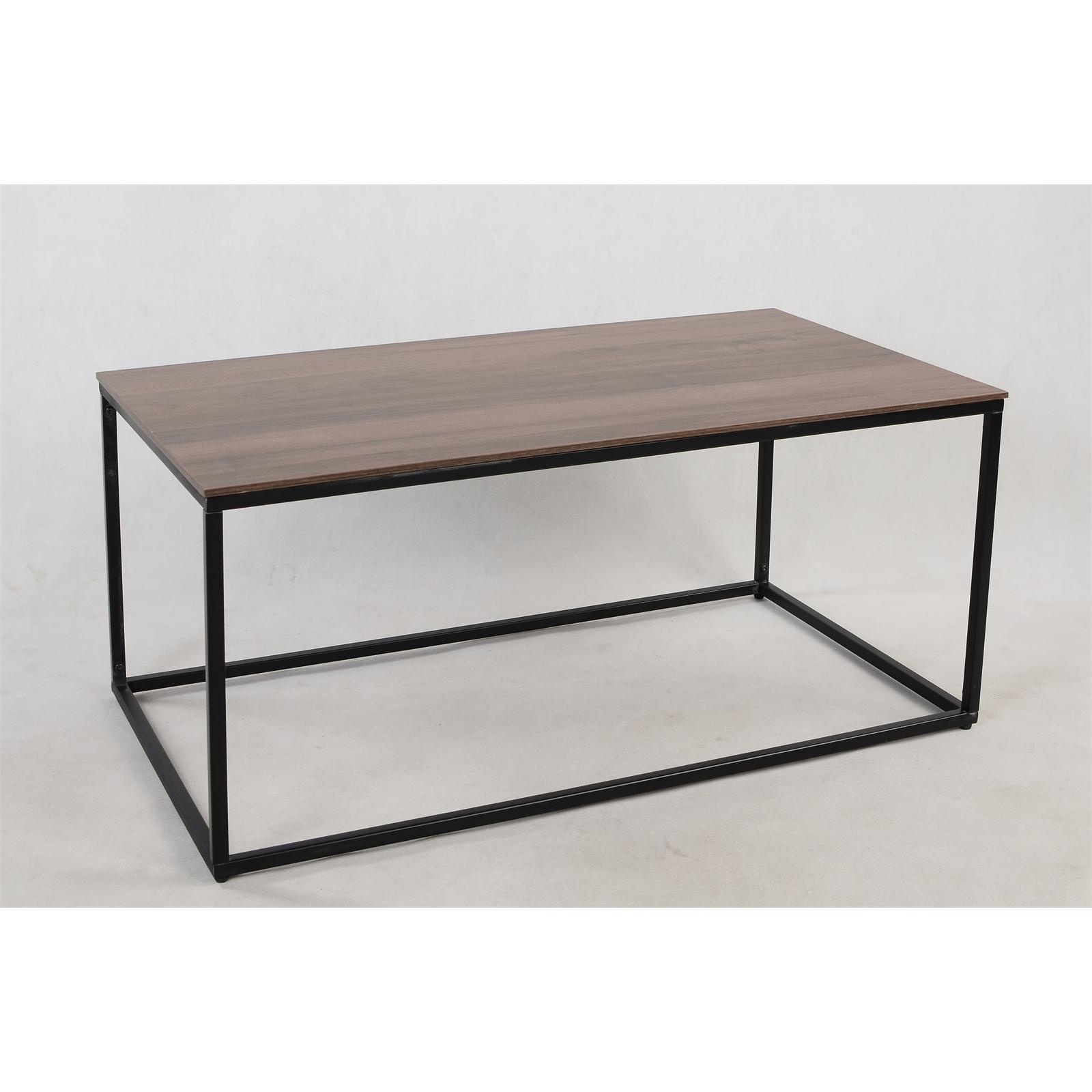 Coffee Table with  walnut top and a matt black minimal metal frame £24.50 @ Homebase c&c