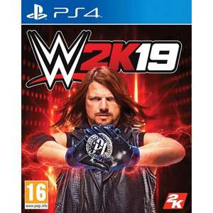 WWE 2K19 PS4. Also available for XBOX ONE. £12.99 Free collect from store at Smyths Toys