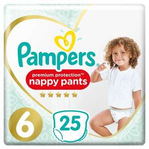 Pampers Premium Protection Pants Size 6 25 Nappies / Size 4 34 Nappies now £3.85 @ Tesco Grocery discount deal