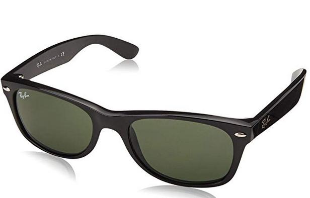 Unisex-Adults New Wayfarer Polarized Ray-Ban New Wayfarer RB 2132 55 901/58 Black Sunglasses,55 mm - £73.50 @ Amazon