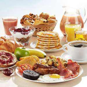 Adult Unlimited Breakfast + 2 kids eat FREE £9.50 (£3.16p/p) - Including Continental Breakfast & Costa Coffee  @ Brewers Fayre