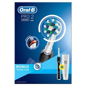 Oral B Pro 2 2500N Black Cross Action Electric Toothbrush £29.99 Superdrug