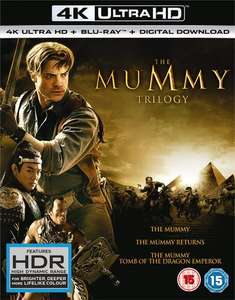4k blu ray - The Mummy Trilogy £18 with code at zoom