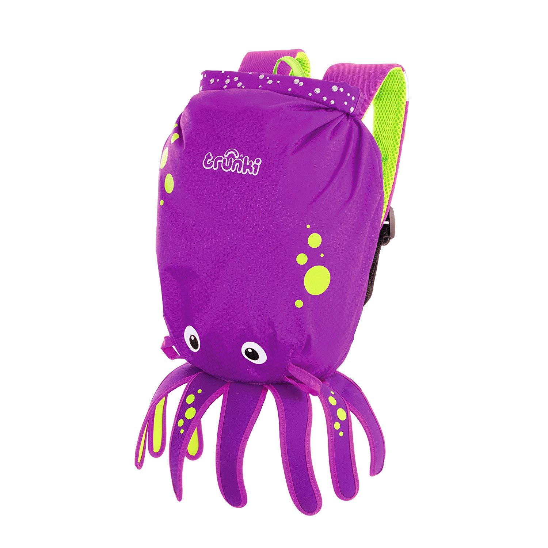 Trunki Kid's Water-Resistant Swim & Gym Bag – PaddlePak Inky Octopus (Purple) now £10 (Prime) + £4.49 (non Prime) at Amazon