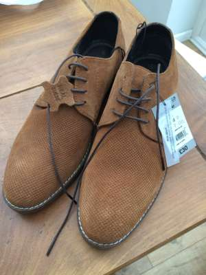 Real leather shoes in Matalan up to 70% off sale- from £8 for Real Suede Perforated Gibson Brogues