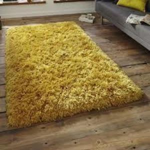 ochre polar shaggy rug - large 160x230 super soft - £49.50 @ Dunelm
