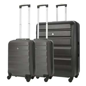 Aerolite Hard Shell Group Travel Bundle – 2 x 21″ Cabin Suitcases + 1 x Large 29″ Hold £64.99 @ Travel Luggage Cabin Bags