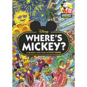 Disney - Where's Mickey - A Search and Find Activity Book @ The Works Free C&C £2.40 With Code Provided