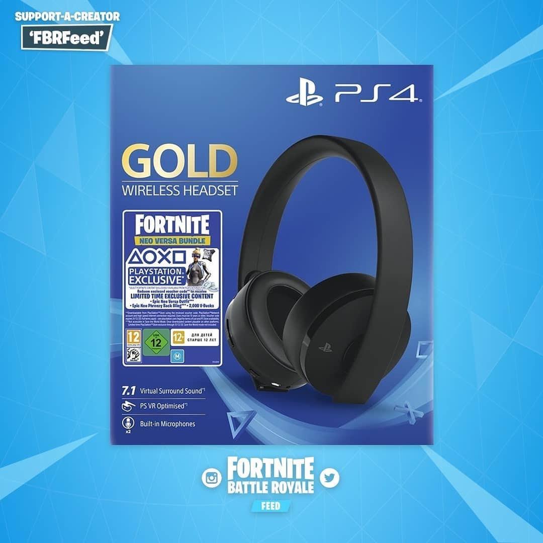 Sony Fortnite Wireless PS4 Headset Bundle - Gold £69.99 @ Amazon