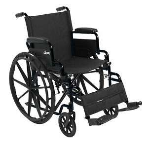 Drive Streak Self Propelled Manual Mobility Aid Folding Wheelchair Lighweight - £47.99 Delivered by livewell-today / eBay