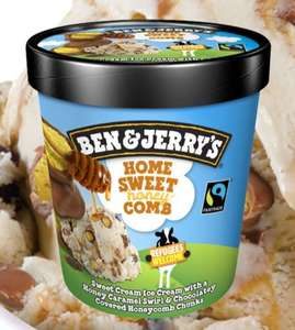 Ben and Jerry's ice cream 500ml - £2 each or 2 for £3 @Heron Foods